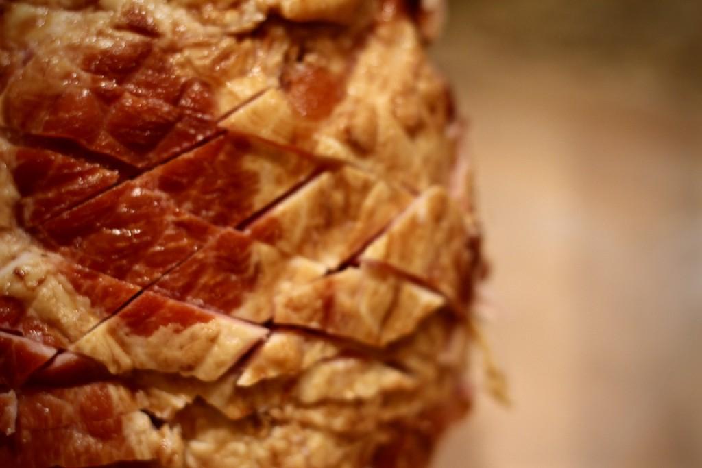 honey baked ham with special homemade glaze