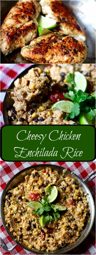 cheesy chicken enchilada rice