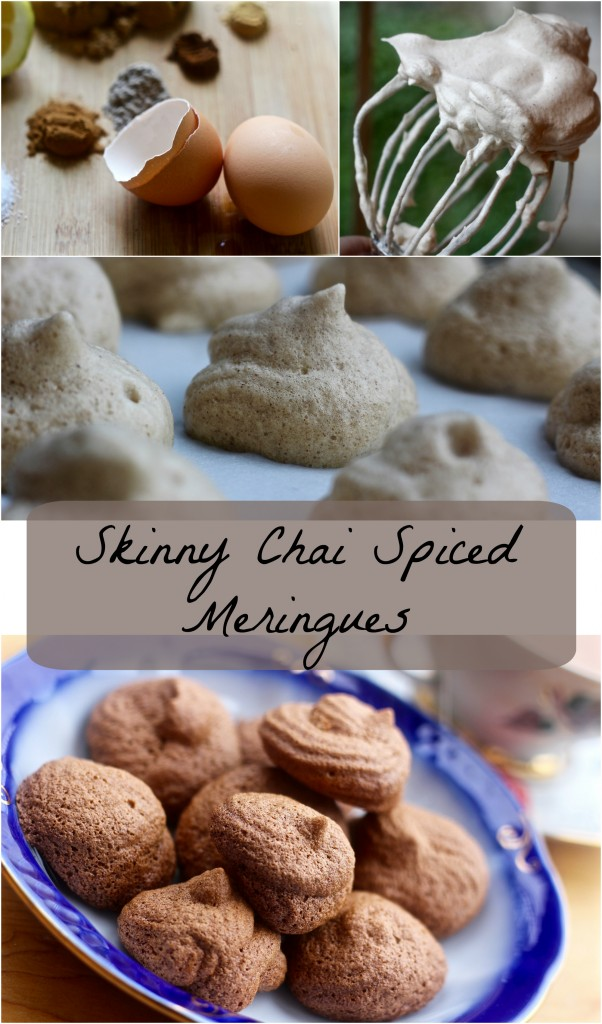 Skinny chai spiced meringues
