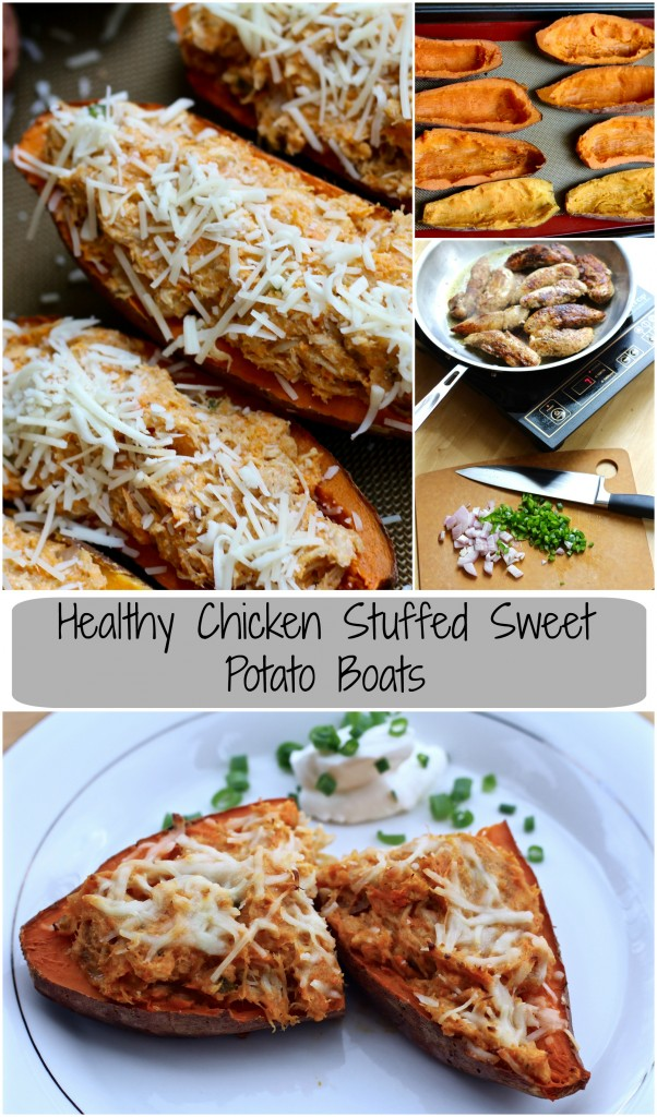 chicken stuffed sweet potato boats