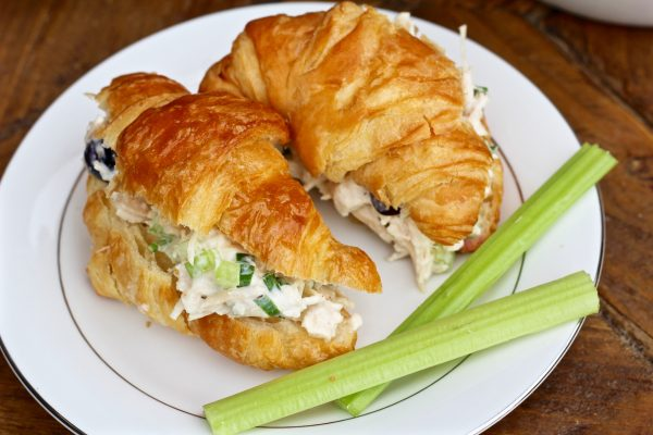 The Best 10 Minute Chicken Salad Croissants