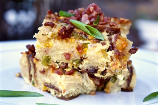 Easy Savory Breakfast Casserole With Bacon And Cheddar