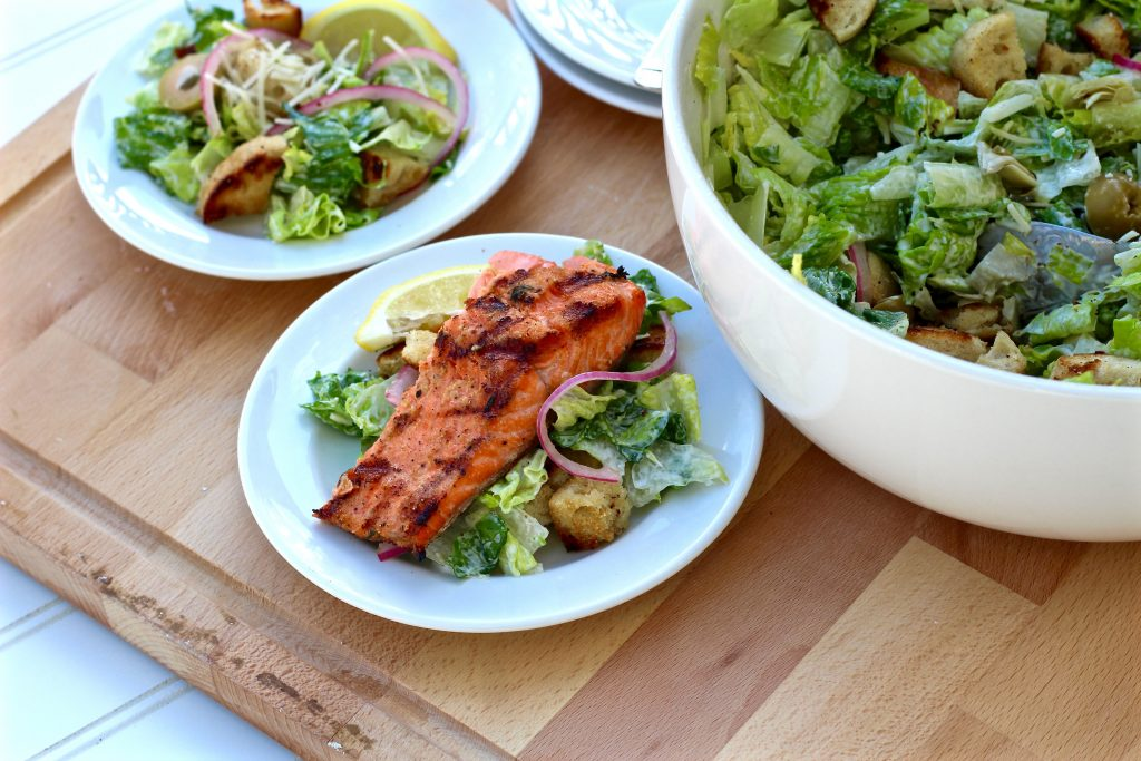 Top with grilled salmon to make it an entree salad.
