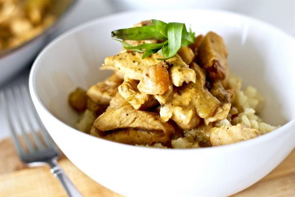 Shortcut Thai Green Curry Chicken With Coconut Rice