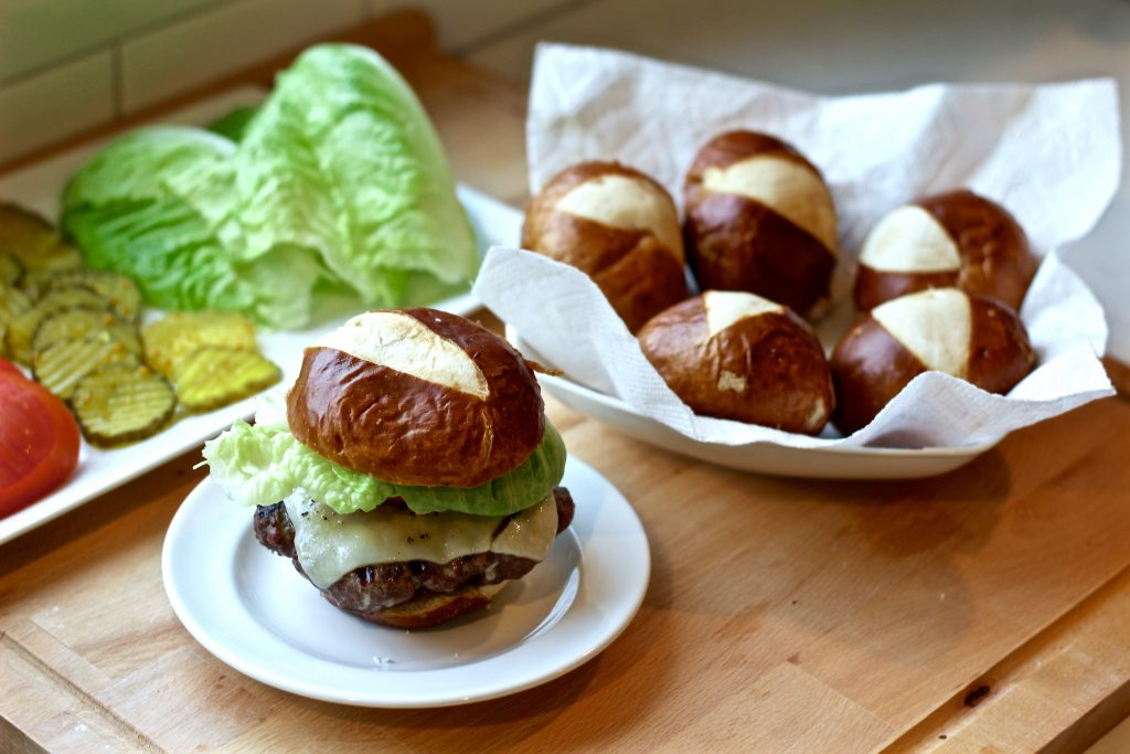 white cheddar bacon burgers