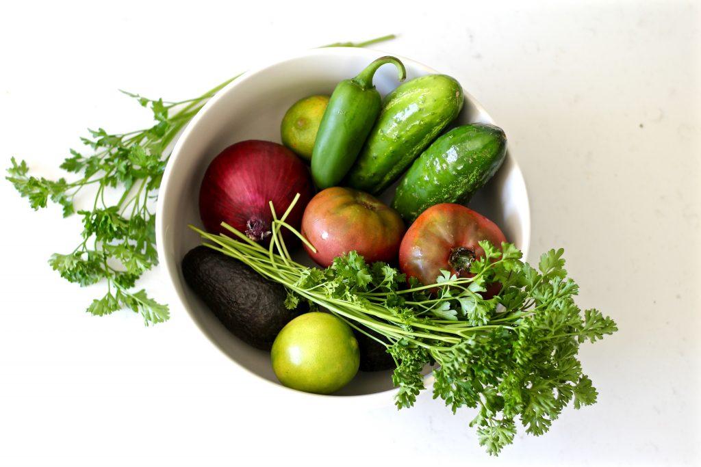 fresh cucumber avocado salsa