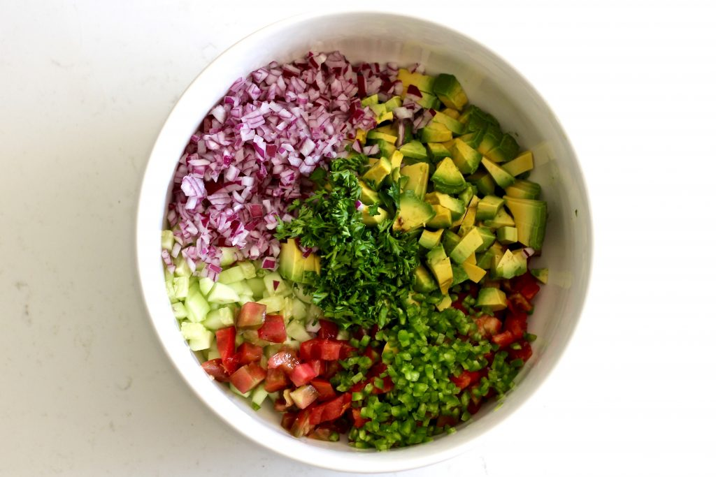 fresh cucumber avocado salsa