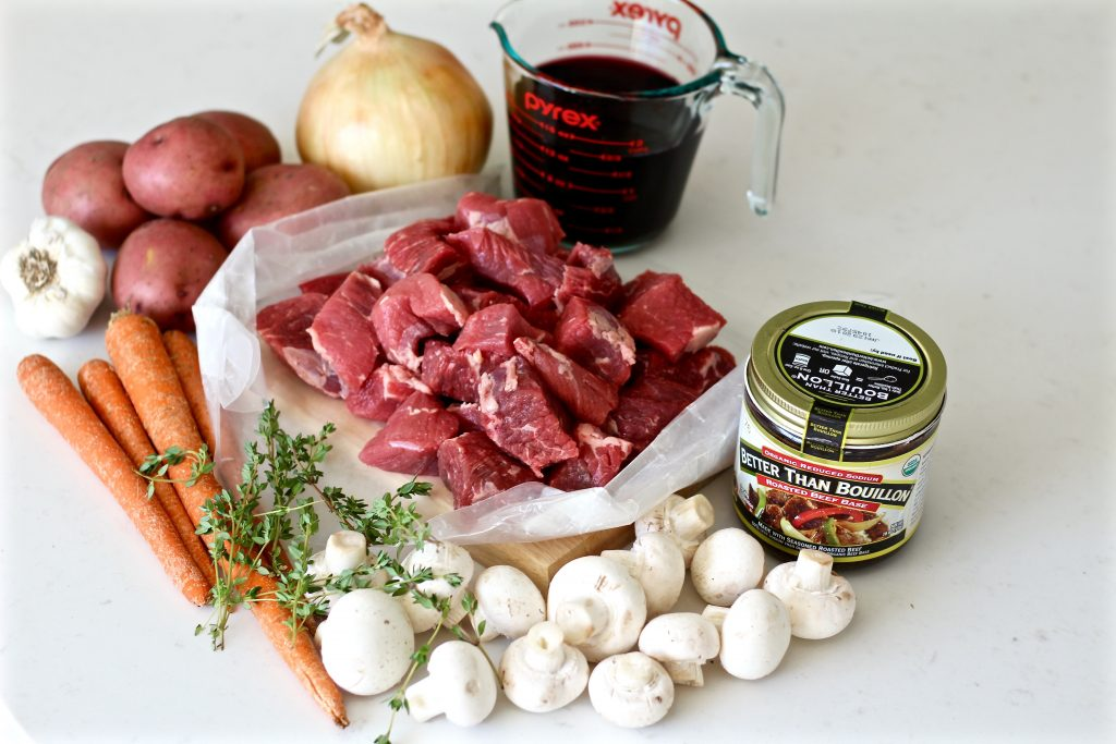 roasted garlic red wine beef stew