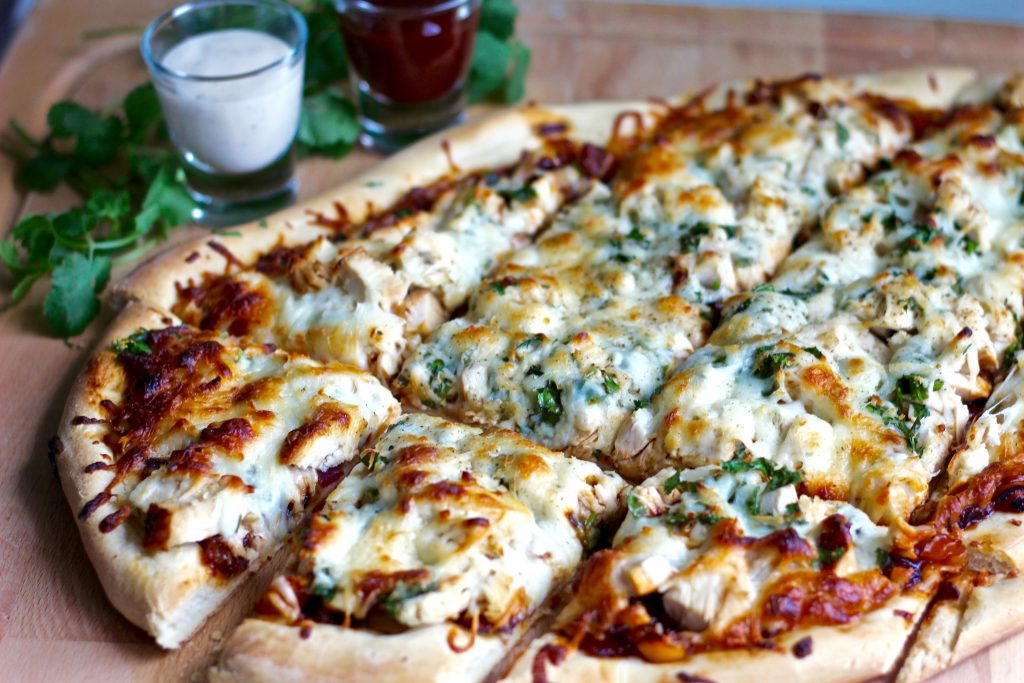 Homemade Sweet BBQ Chicken Pizza