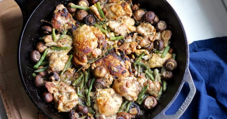 Quick Flavorful Lemon Chicken Veggie Skillet