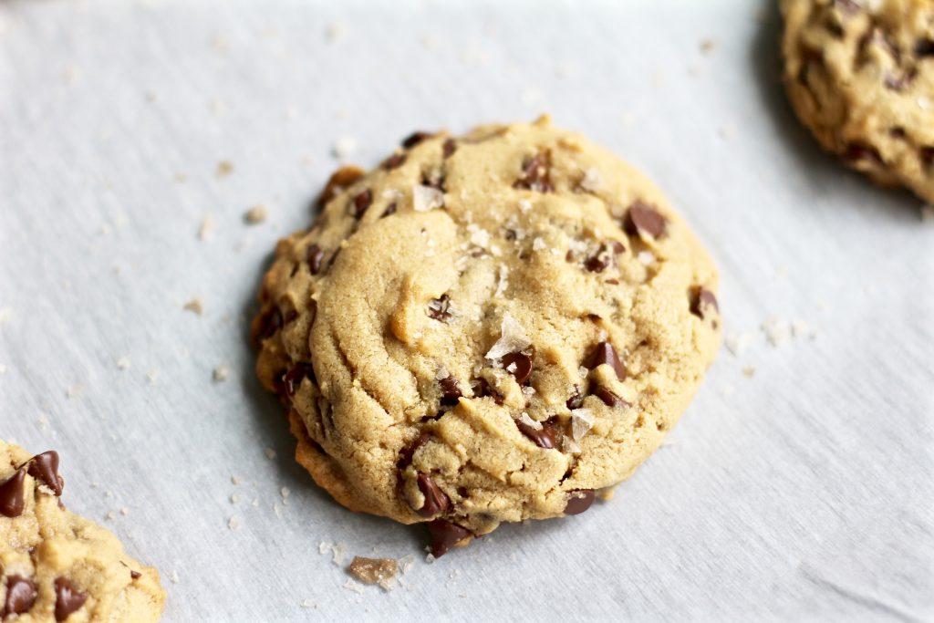 Sea Salt Peanut Butter Chocolate Chip Cookies - Yuli Cooks