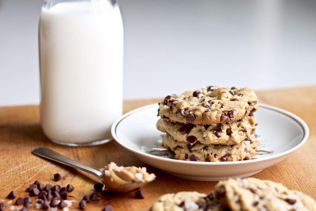 Sea Salt Peanut Butter Chocolate Chip Cookies