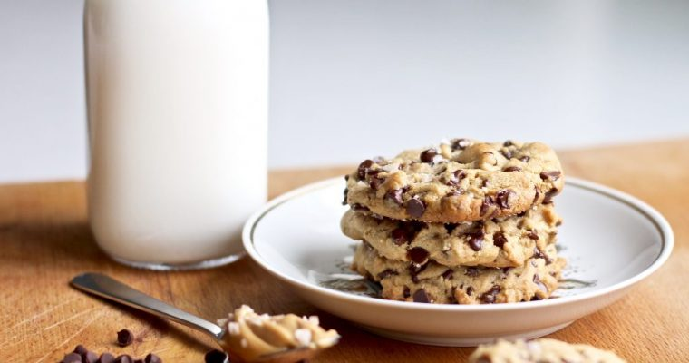 Sea Salt Peanut Butter Chocolate Chip Cookies
