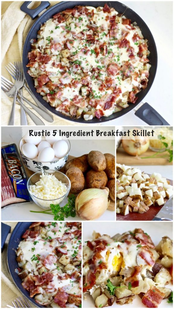 rustic 5 ingredient breakfast skilet