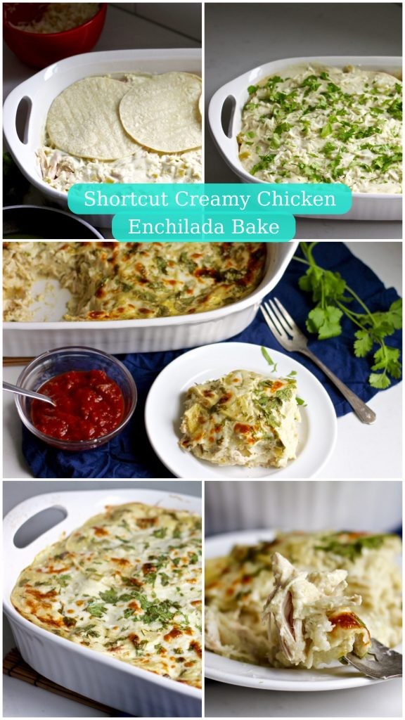shortcut creamy chicken enchilada bake