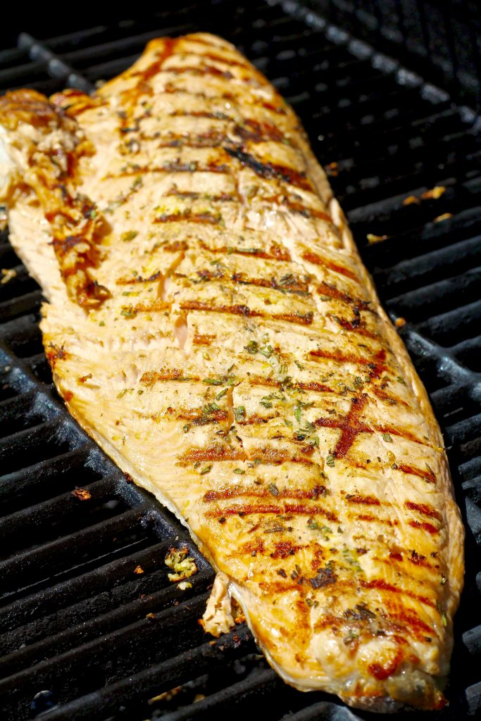 juicy grilled garlic rosemary salmon