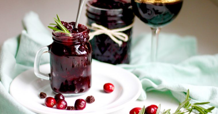 Balsamic Port Homemade Cranberry Sauce