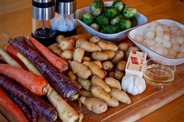 Roasted Potatoes & Rainbow Carrots