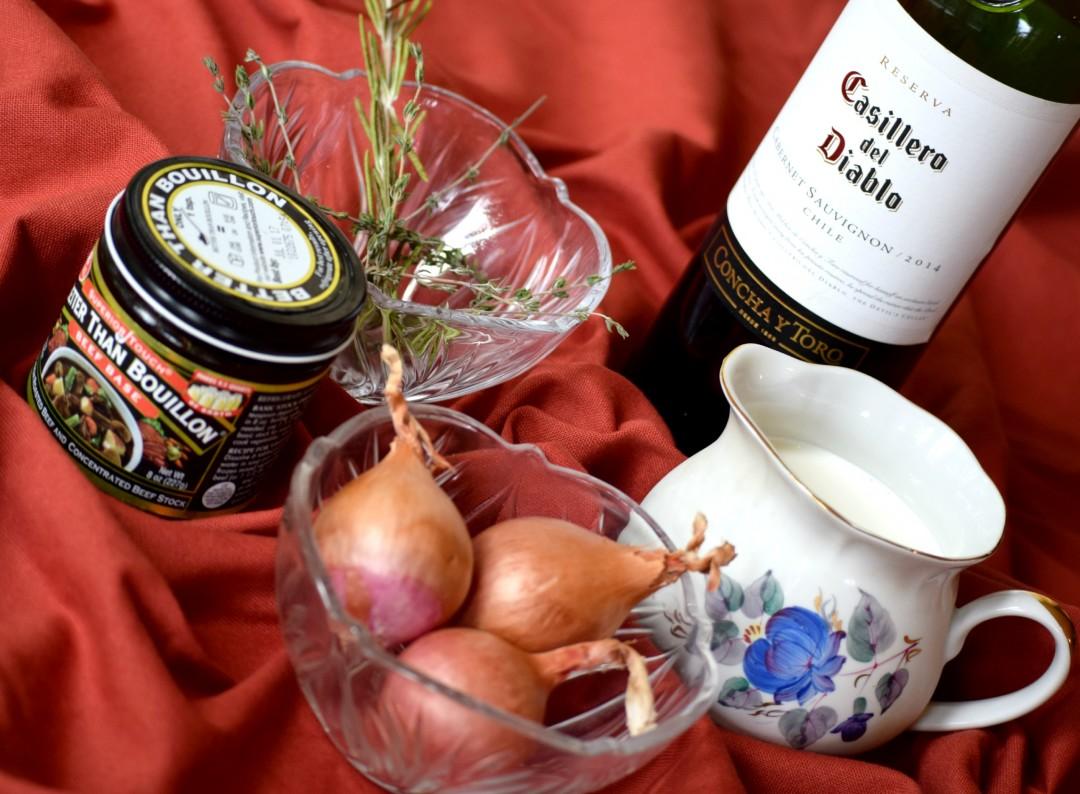 Shallot Red Wine Cream Sauce