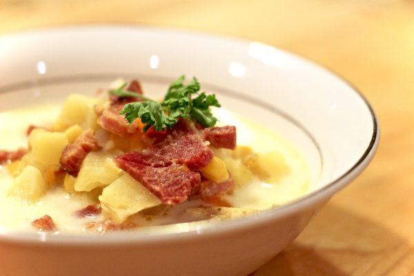Rich Savory Ham & Corn Chowder