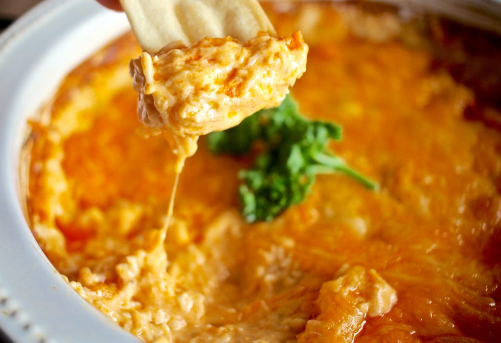 Creamy, Cheesy, and EASY Buffalo Ranch Chicken Dip