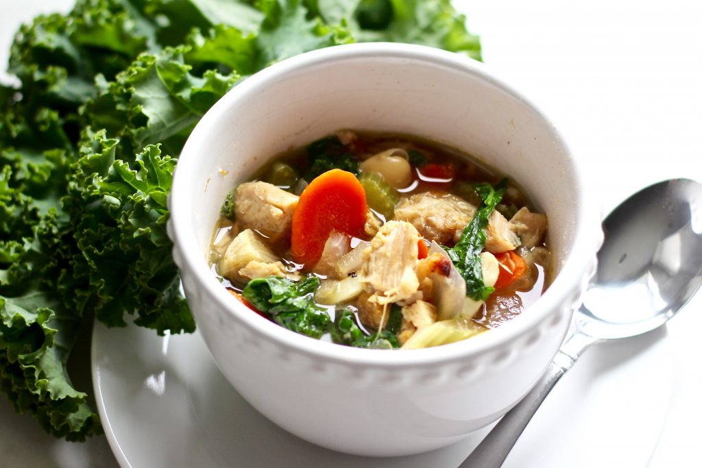 Hearty White Bean Kale Chicken Soup
