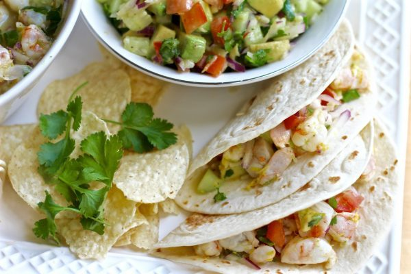Zesty Shrimp Ceviche Tacos With Fresh Salsa