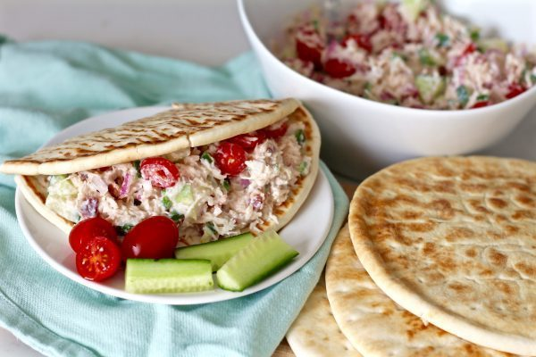 Creamy Greek Chicken Pita Sandwiches