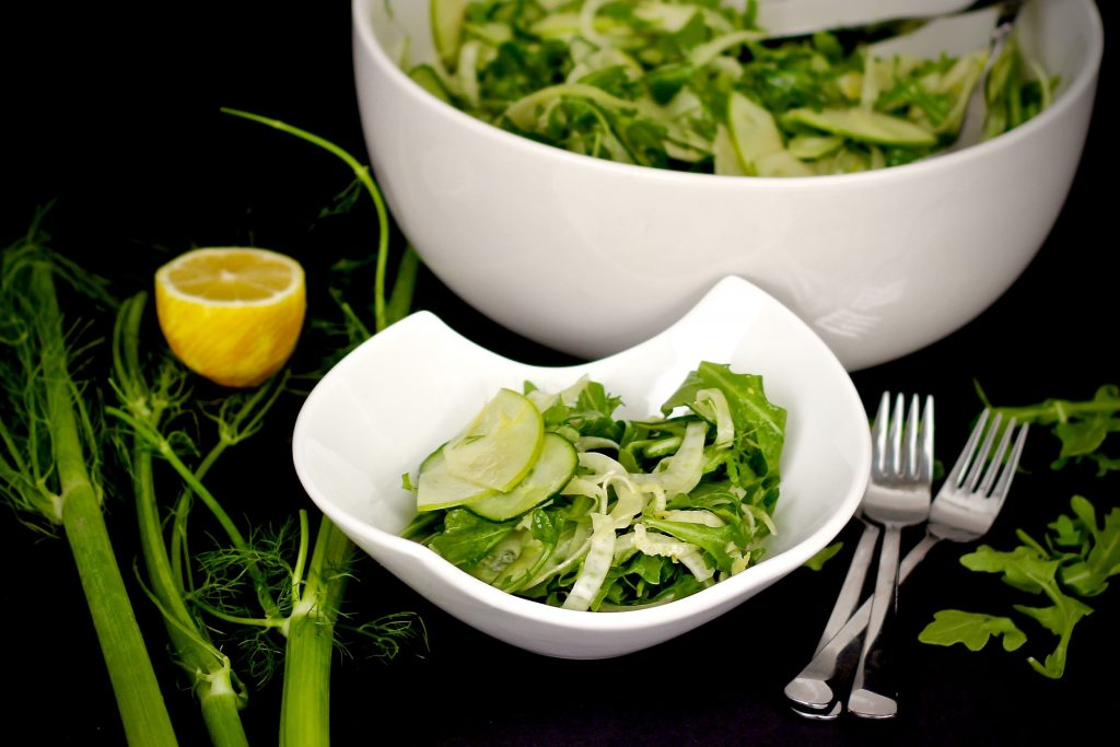 shaved fennel arugula salad